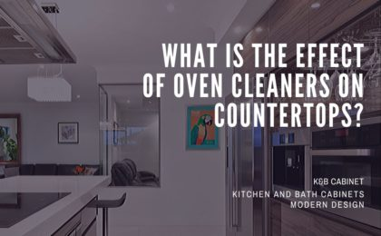 What is the effect of oven cleaners on countertops